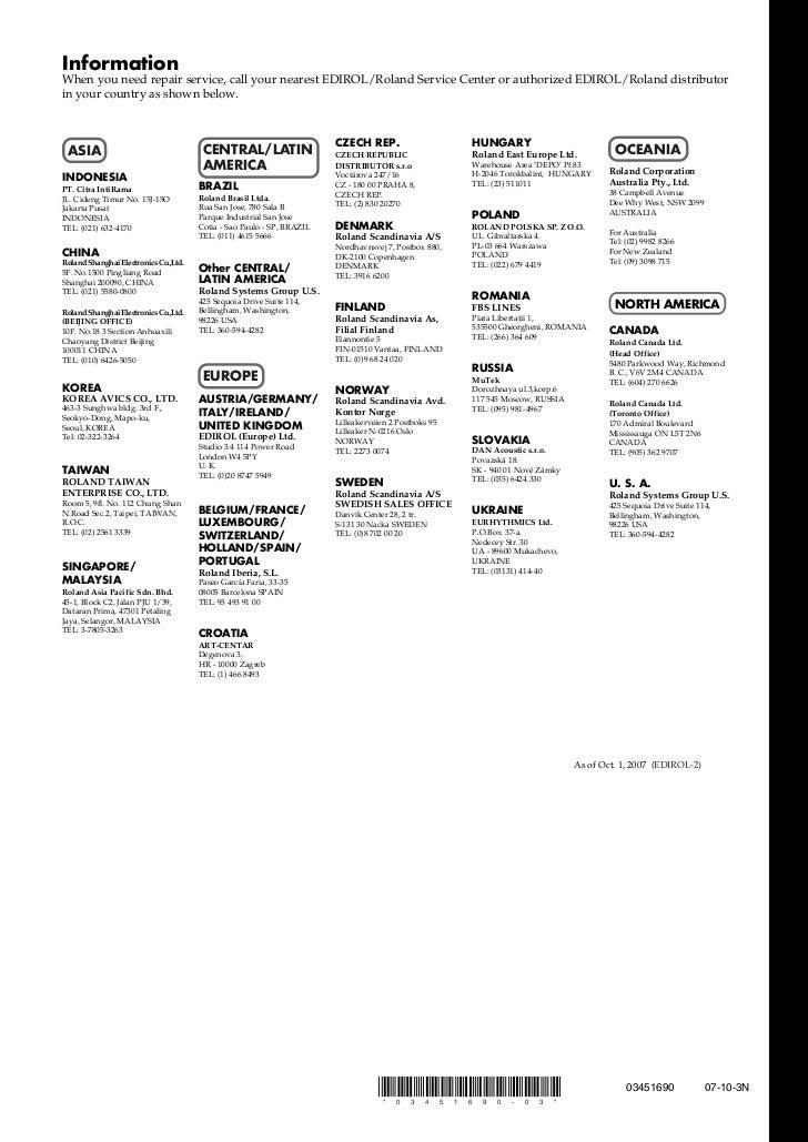 Roland Edirol LVS-400 manual