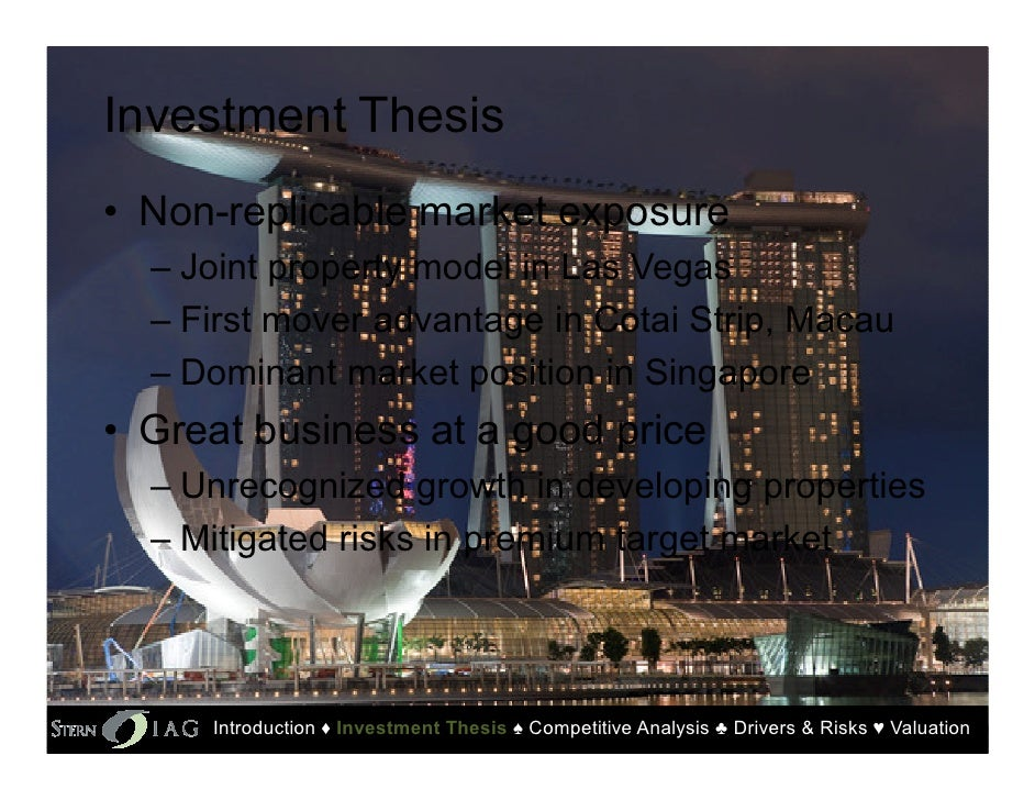pestel analysis of las vegas sands macao Sands casino macau: swot analysis swot analysis  this offers new opportunities for las vegas sands corporation to expand its businesses in macau 2 .