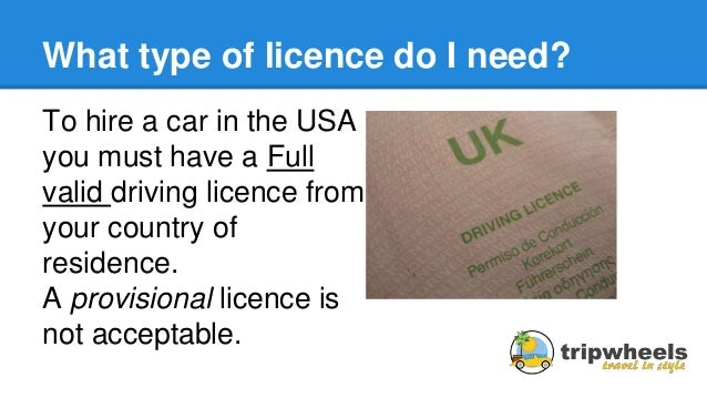 Hire Car Usa Uk Licence
