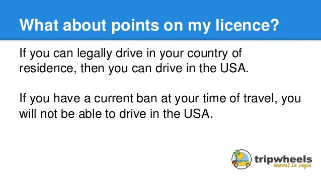Driving Licence Usa Car Hire