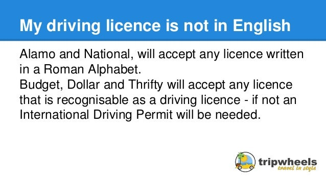 Florida Learners Permit >> Driving Licence Requirements For Hiring a Car in the USA
