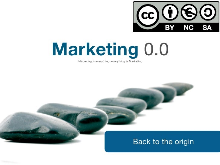 Marketing 0.0   Marketing is everything, everything is Marketing                                               Back to the...