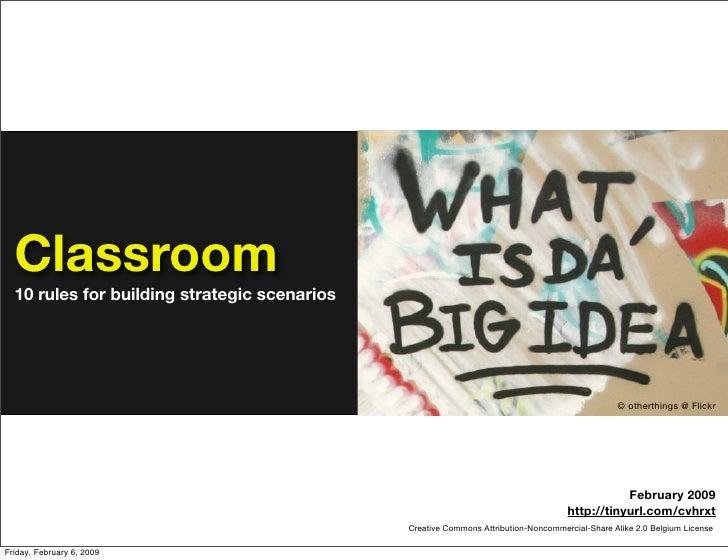 Classroom   10 rules for building strategic scenarios                                                                     ...