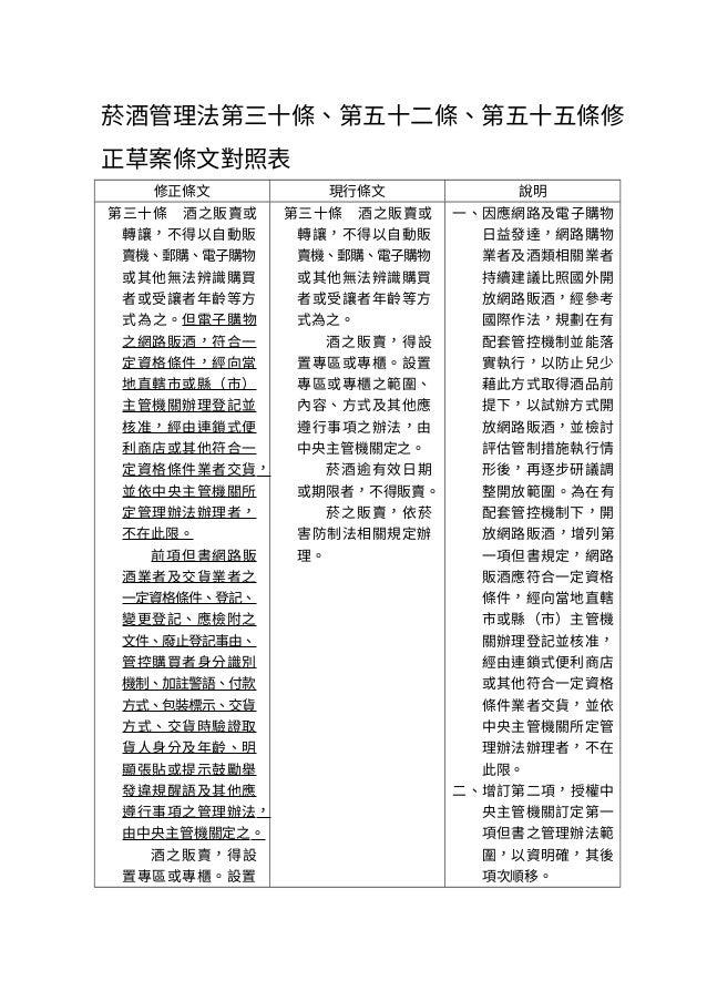 網路賣酒:財政部報行政院會之修正草案 Slide 2