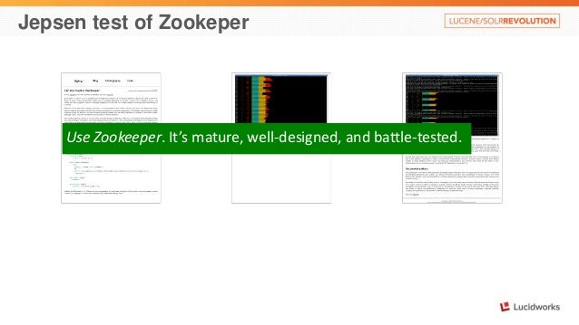 Jepsen test of Zookeper  Use Zookeeper. It's mature, well-designed, and battle-tested.