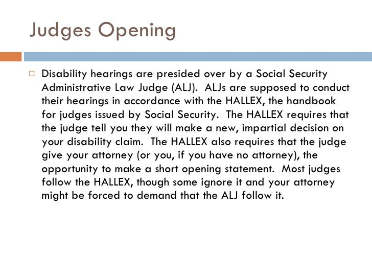 Social Security Disability Hearing Overview