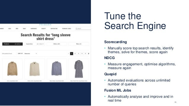 15 Scorecarding • Manually score top search results, identify themes, solve for themes, score again NDCG • Measure engagem...