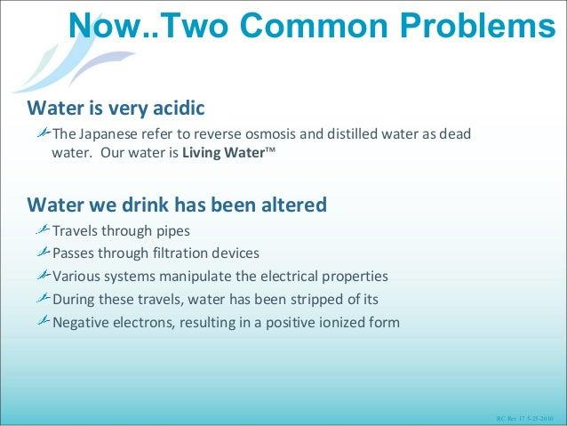 Drinking Distilled Water Problems ~ Living water presentation