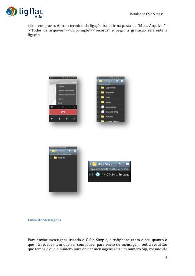 LigFlat Telecom - Instalando o CSIP Simple no Android - pt-BR