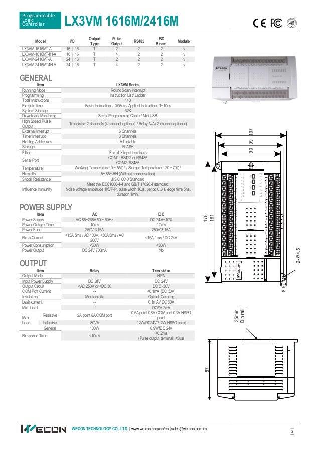 Wecon LX3VM PLC Flyer