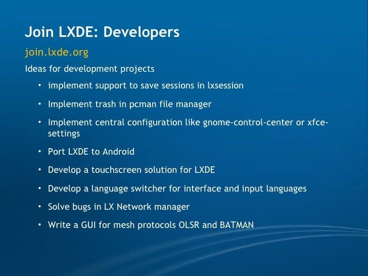 LXDE Google Summer of Code 2009