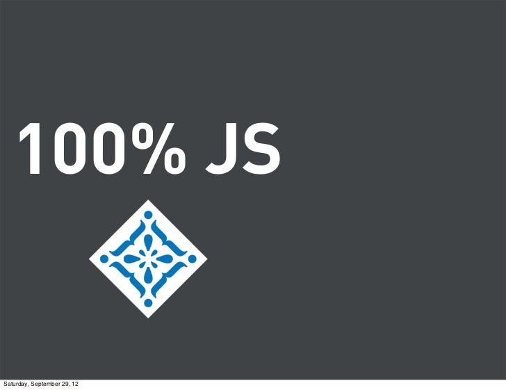 100% JSSaturday, September 29, 12