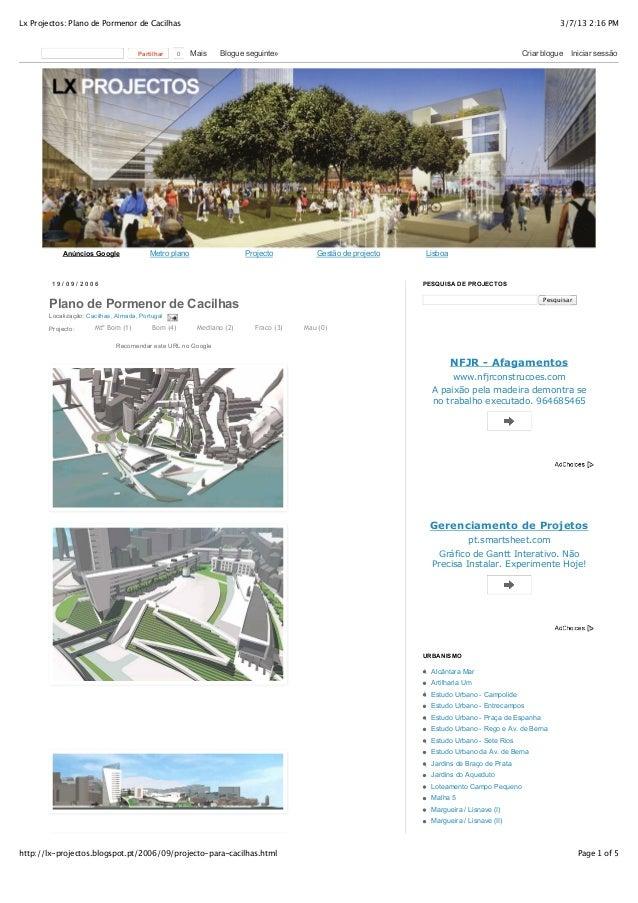 Lx Projectos: Plano de Pormenor de Cacilhas                                                                               ...