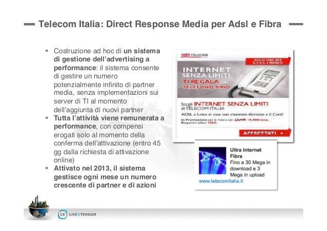LiveXtension per Telecom Italia: SEO & Direct Response Media Slide 3