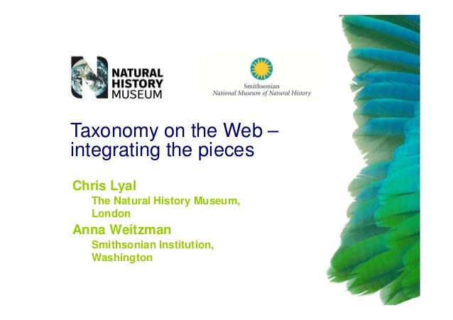 Chris Lyal - Taxonomy and the Web - integrating the pieces