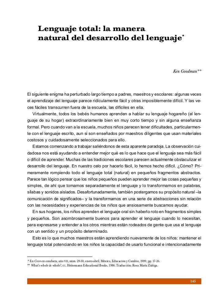Lenguaje total: la manera        natural del desarrollo del lenguaje*                                                     ...