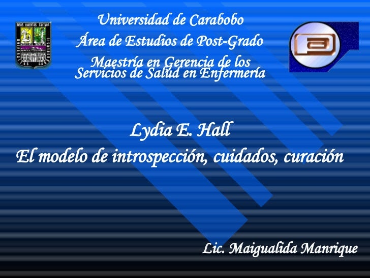 Universidad de Carabobo Área de Estudios de Post-Grado Maestría en Gerencia de los Servicios de Salud en Enfermería Lydia ...