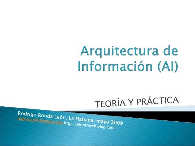 Arquitectura de informaci n clase 1 definicion for Arquitectura definicion