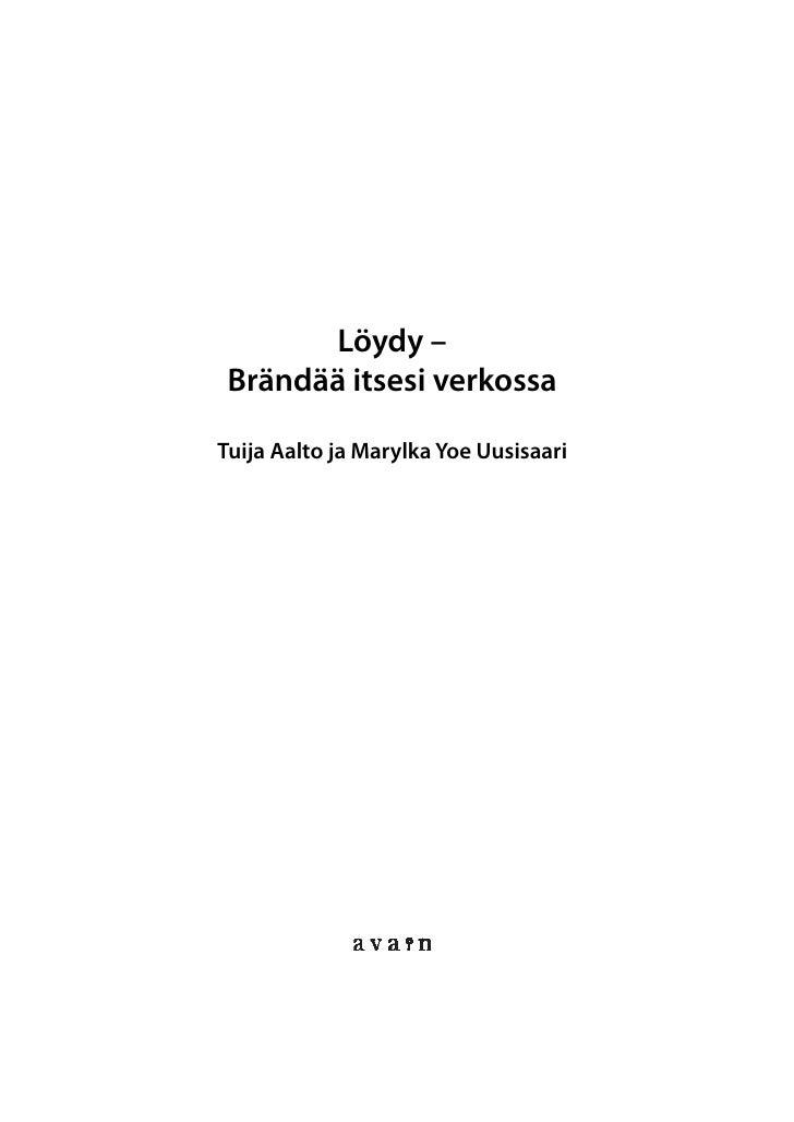 Löydy - Brändää itsesi verkossa -kirjan näyte Slide 2