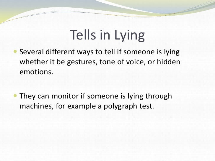 effects of telling lies
