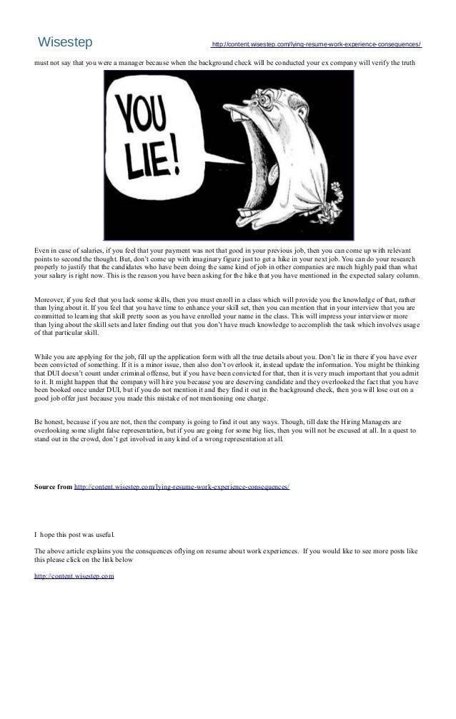 4 - Lying On Resume