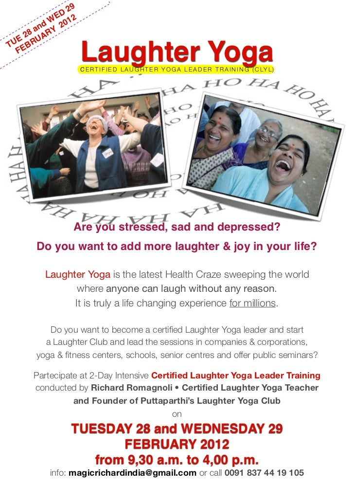 Certified Laughter Yoga Leader Training With Riccardo Romagnoli In Pu