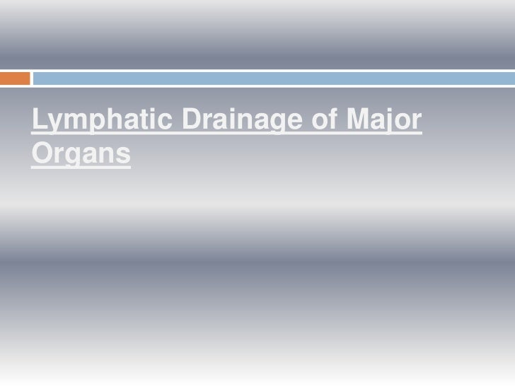 Lymphatic Drainage of MajorOrgans