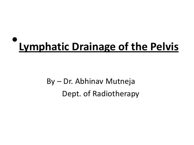 • Lymphatic Drainage of the Pelvis By – Dr. Abhinav Mutneja Dept. of Radiotherapy