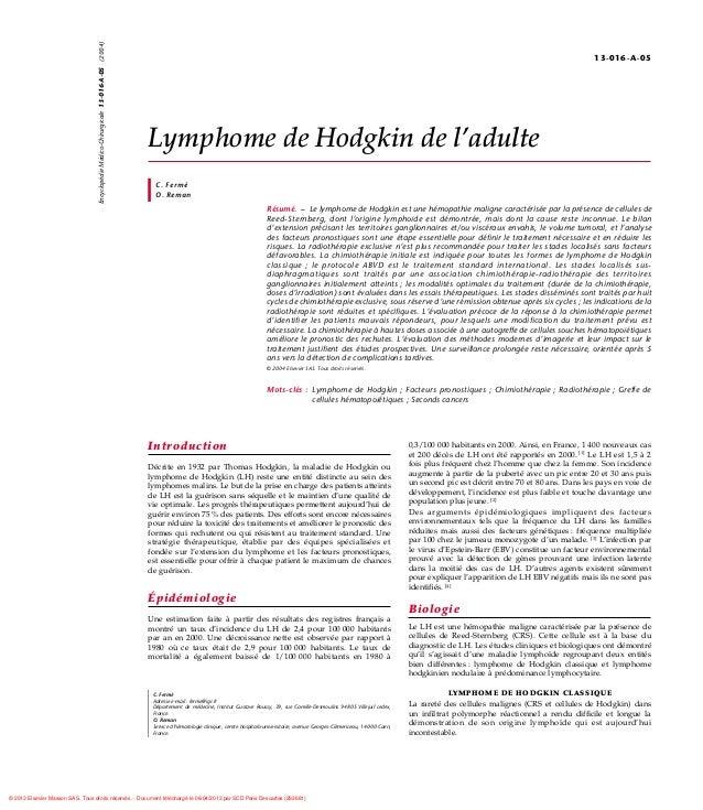 Encyclopédie Médico-Chirurgicale 13-016-A-05 (2004)                                                                       ...