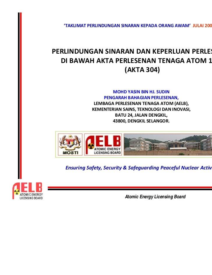 "!                                   ""   #     #    Atomic Energy Licensing Board           1"