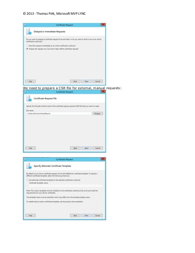 Lync certificate planning and assignments 16 yelopaper Gallery
