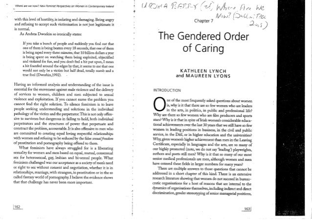 Lynch and Lyons (2008) - The Gendered Order of Caring