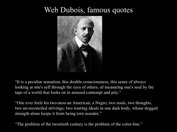 Web dubois double consciousness essay