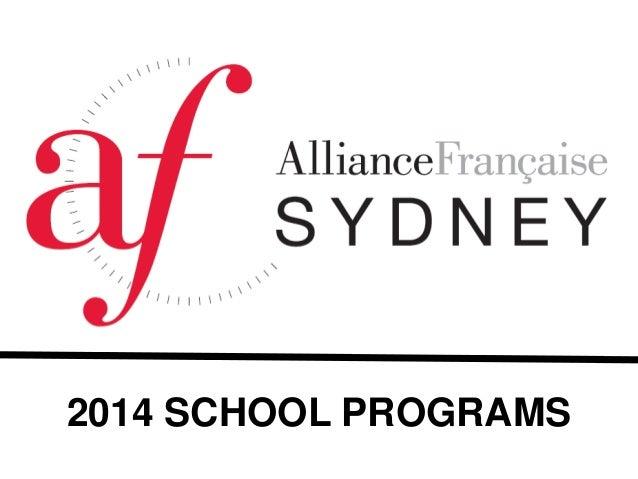 2014 SCHOOL PROGRAMS