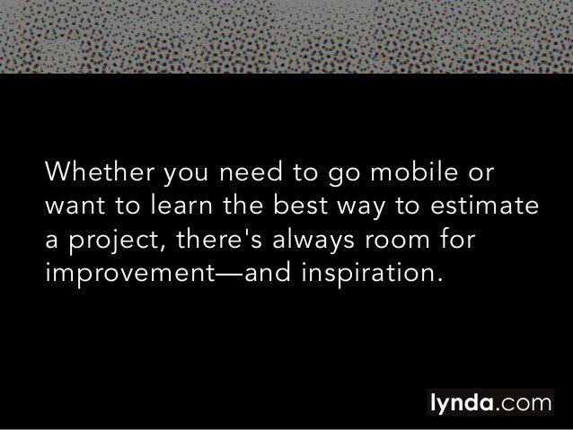 Five Tips for All Freelancers in 2014 | lynda.com Slide 2