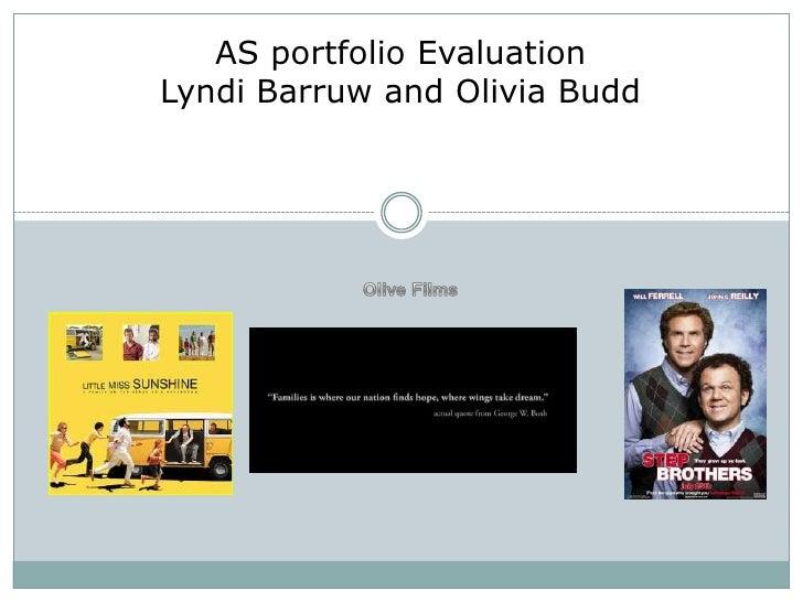 AS portfolio EvaluationLyndi Barruw and Olivia Budd