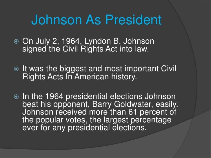 The election of lyndon b johnson