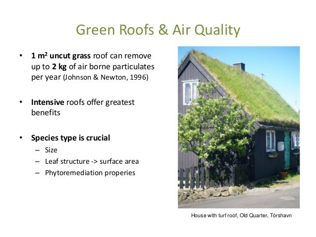 Living Roofs Amp Walls Air Quality Climate And Health