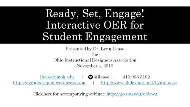 Ready, Set, Engage! Interactive OER for Student Engagement