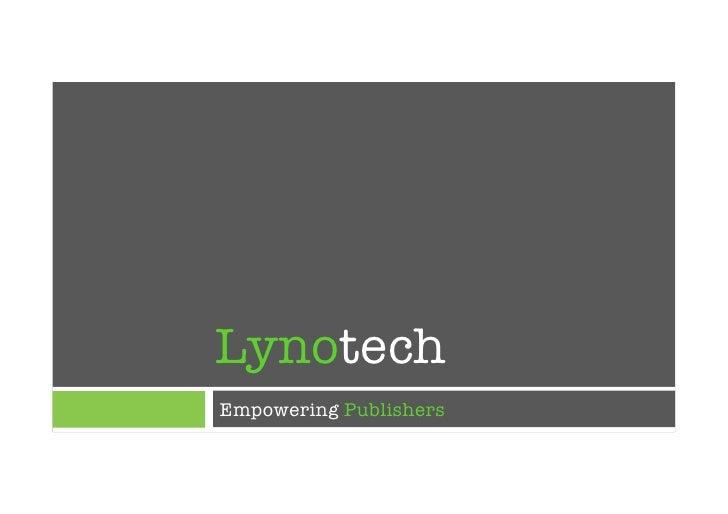 LynotechEmpowering Publishers