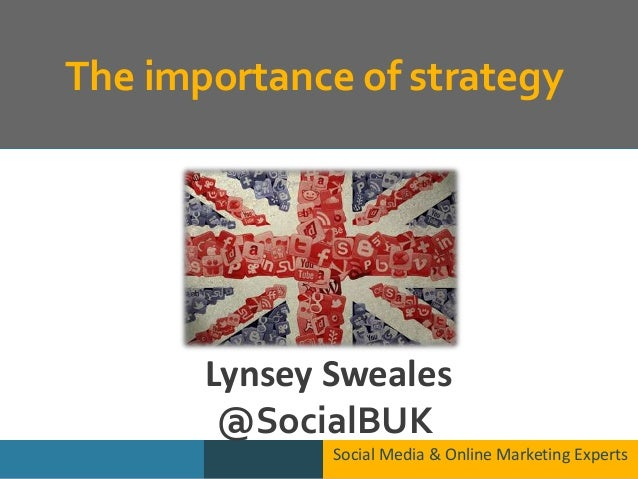 The importance of strategy Social Media & Online Marketing Experts Lynsey Sweales @SocialBUK