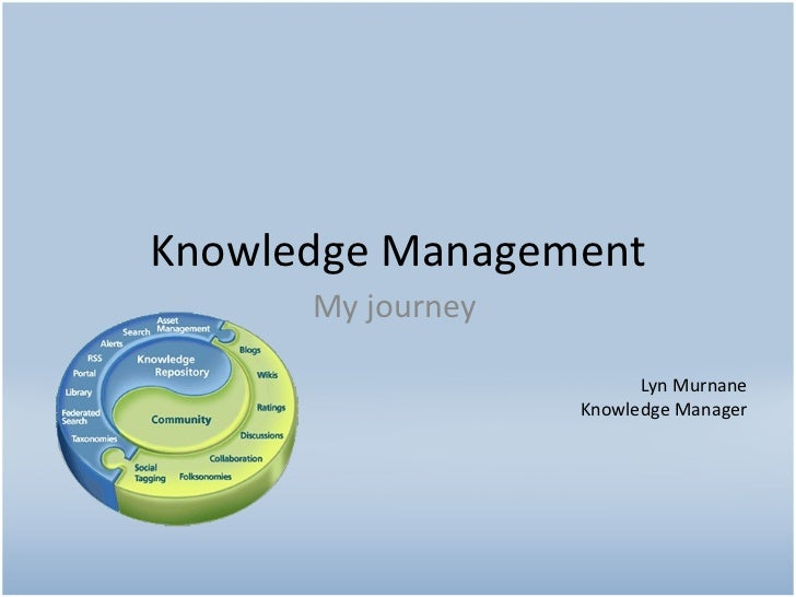 Knowledge Management My journey Lyn Murnane Knowledge Manager