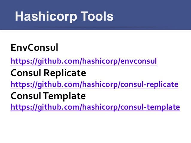 Consul first steps for Hashicorp consul