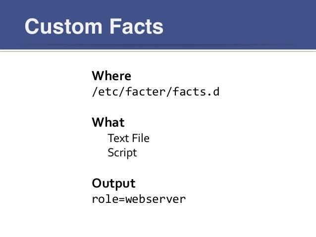 writing custom facts