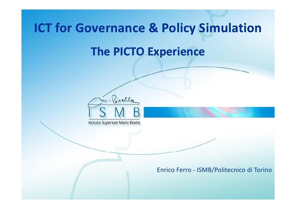 ICTforGovernance&PolicySimulation                           y          ThePICTOExperience                      p   ...