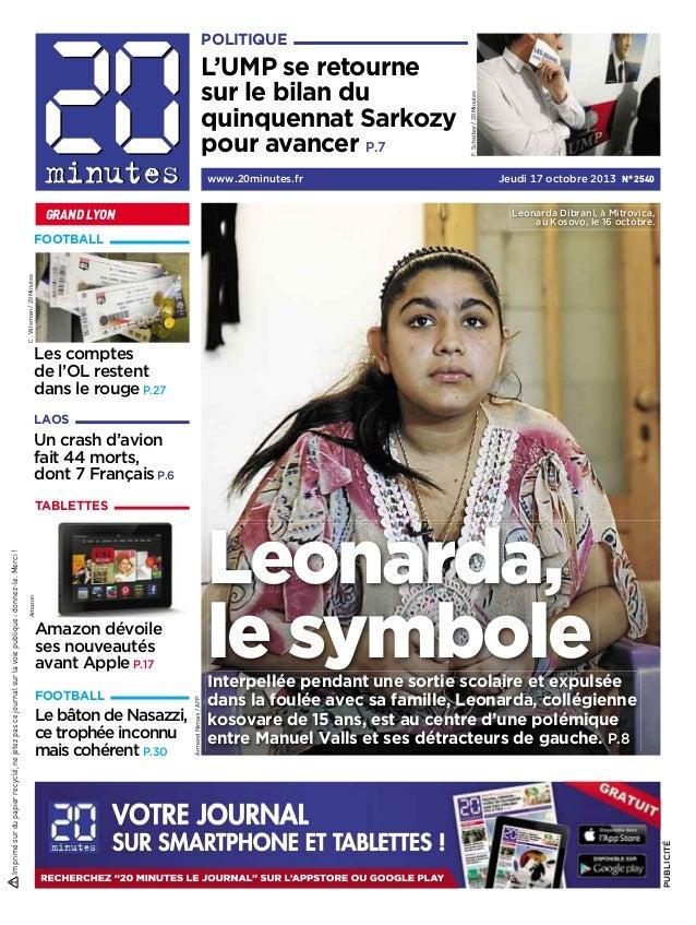 L'UMP se retourne sur le bilan du quinquennat Sarkozy pour avancer P.7 www.20minutes.fr  GRAND LYON  F. Scheiber / 20 Minu...