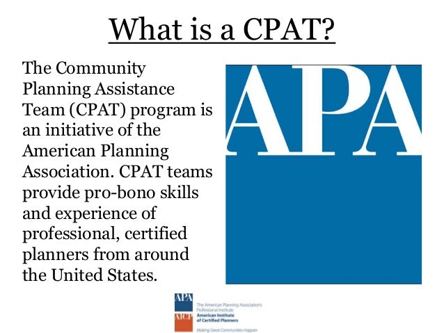 Lyons, CO CPAT Final community presentation