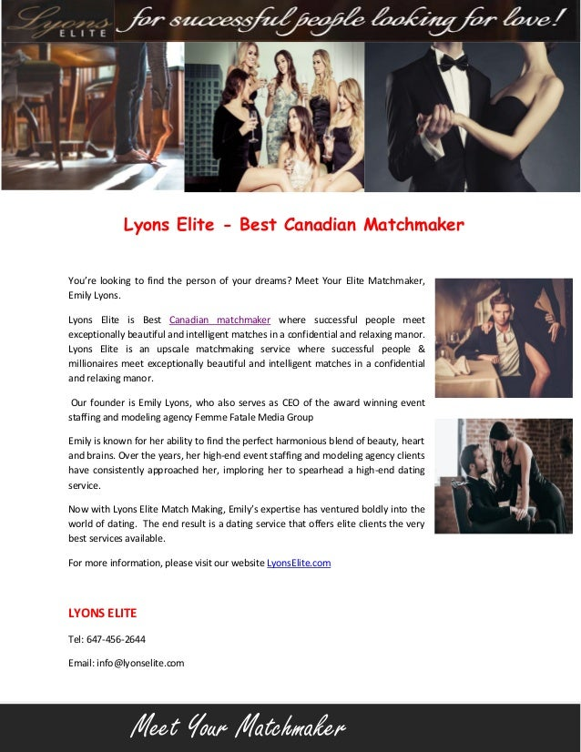 Canadian matchmaking sites