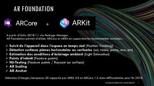 Unity ARFoundation - Unity3D Lyon Meetup - 20/09/2018