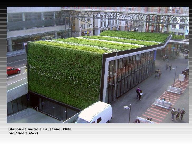 Station de métro à Lausanne, 2008 (architecte M+V)